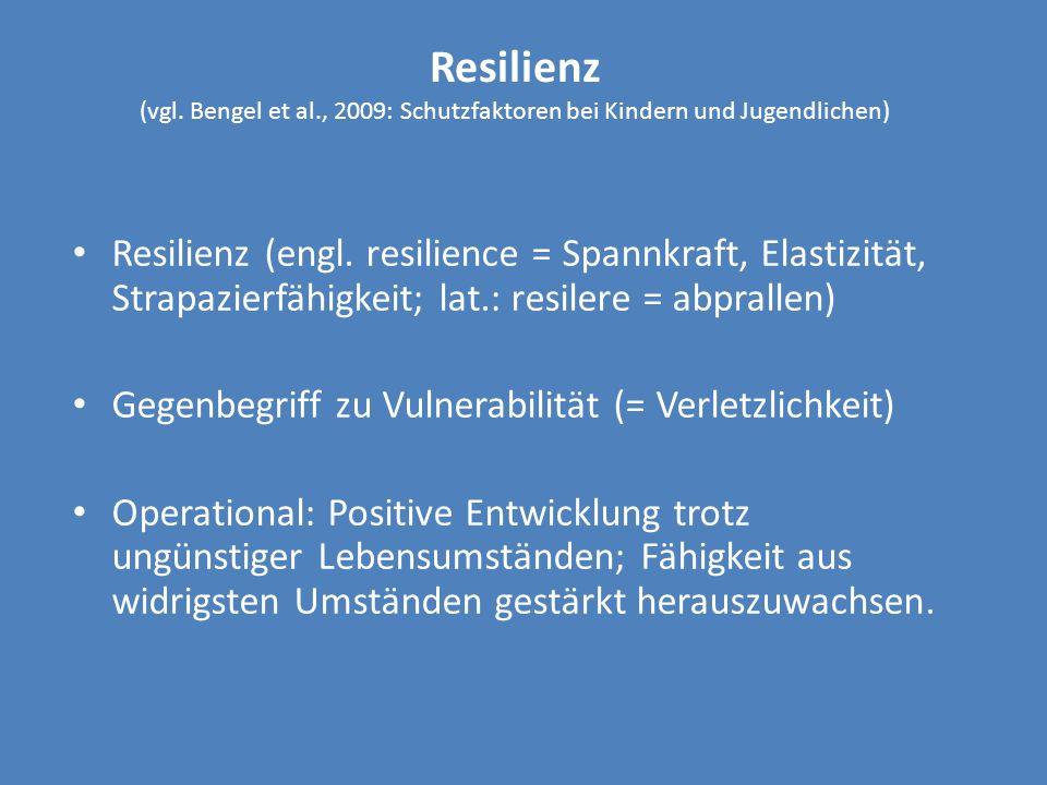 Resilienz (vgl. Bengel et al