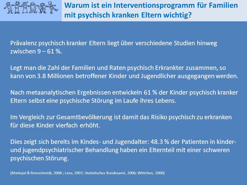 Warum ist ein Interventionsprogramm für Familien mit psychisch kranken Eltern wichtig