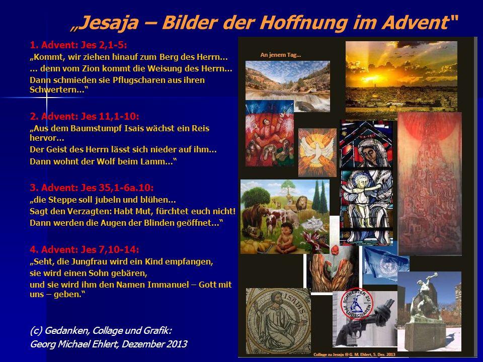 """""""Jesaja – Bilder der Hoffnung im Advent"""