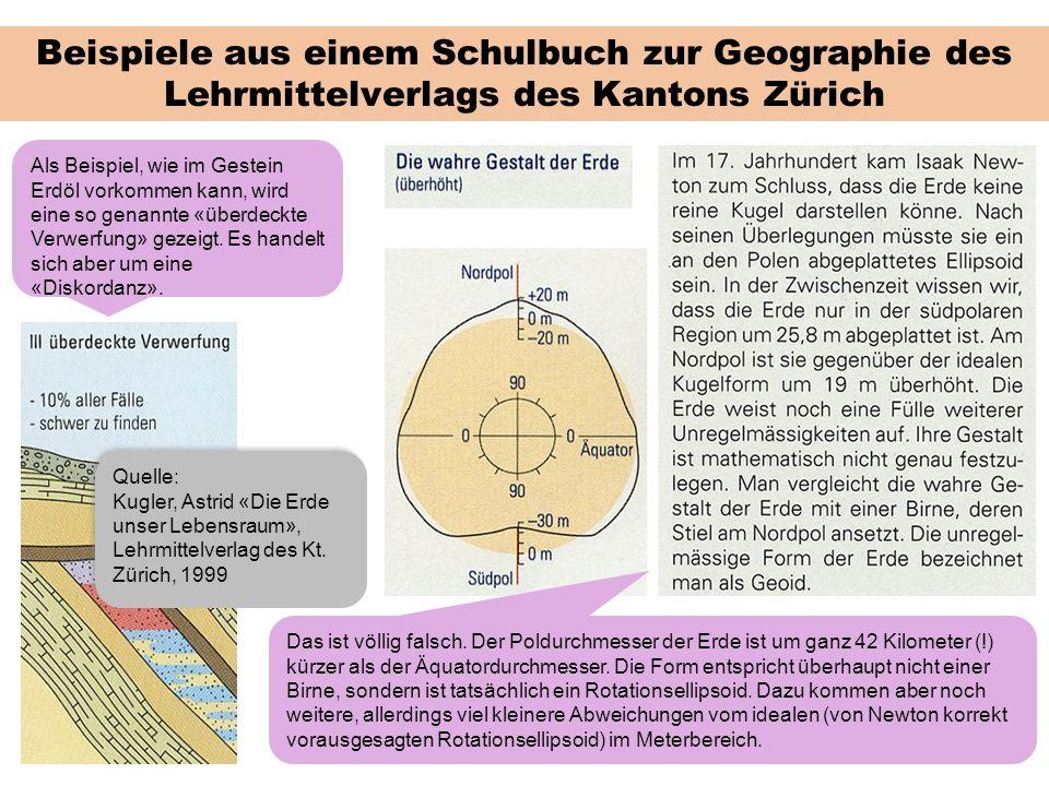 Beispiele aus einem Schulbuch zur Geographie des Lehrmittelverlags des Kantons Zürich