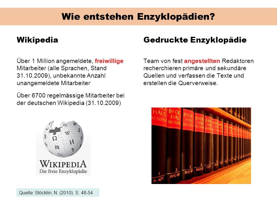 Wie entstehen Enzyklopädien