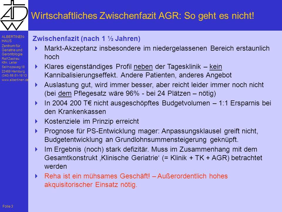 Wirtschaftliches Zwischenfazit AGR: So geht es nicht!