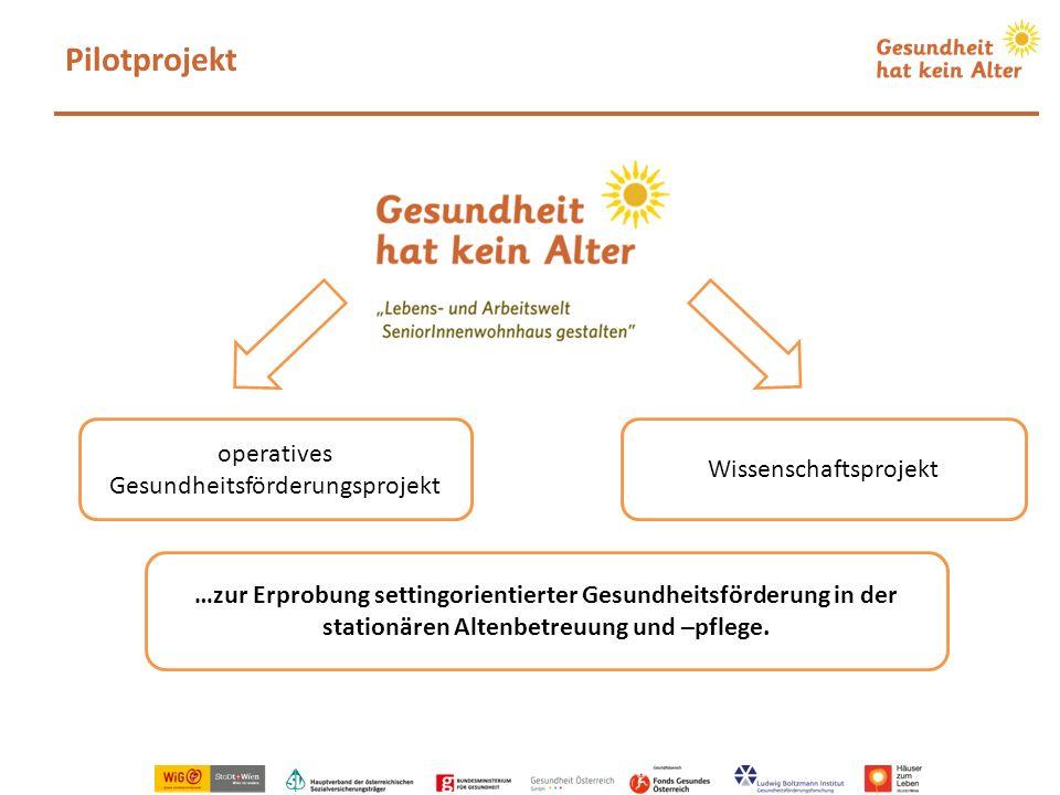 Pilotprojekt operatives Gesundheitsförderungsprojekt