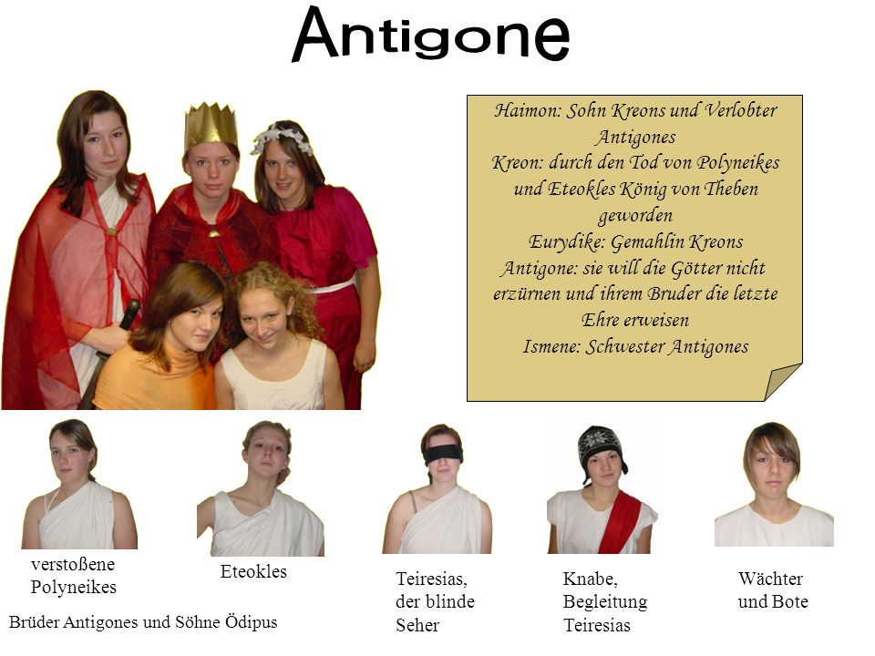Antigone Haimon: Sohn Kreons und Verlobter Antigones