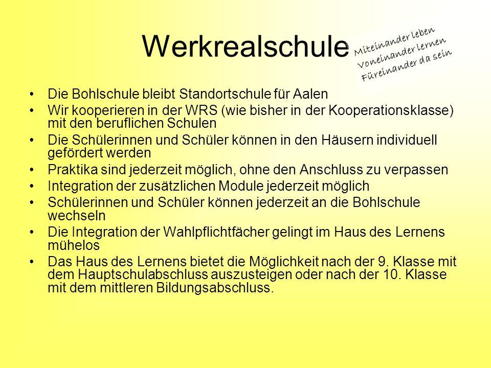 Werkrealschule Die Bohlschule bleibt Standortschule für Aalen