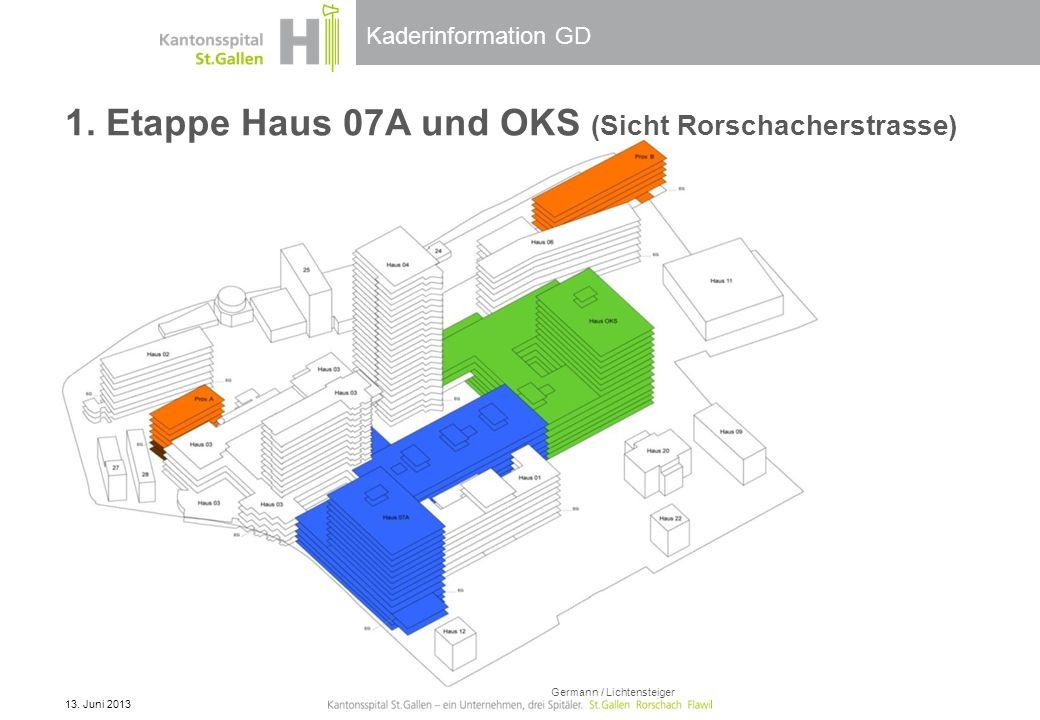 1. Etappe Haus 07A und OKS (Sicht Rorschacherstrasse)