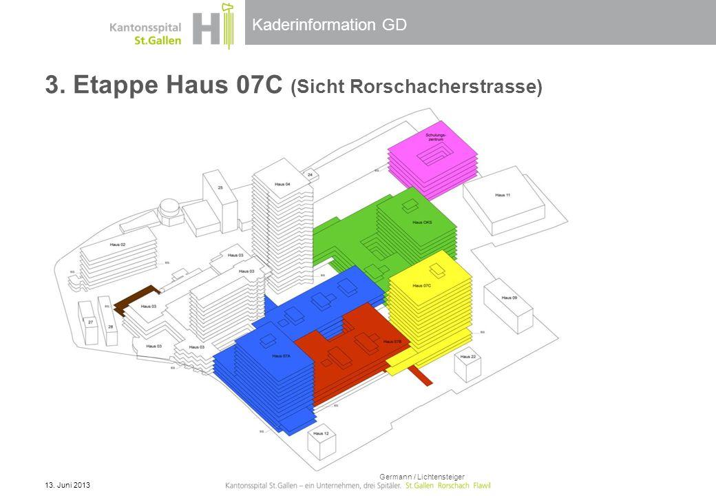 3. Etappe Haus 07C (Sicht Rorschacherstrasse)