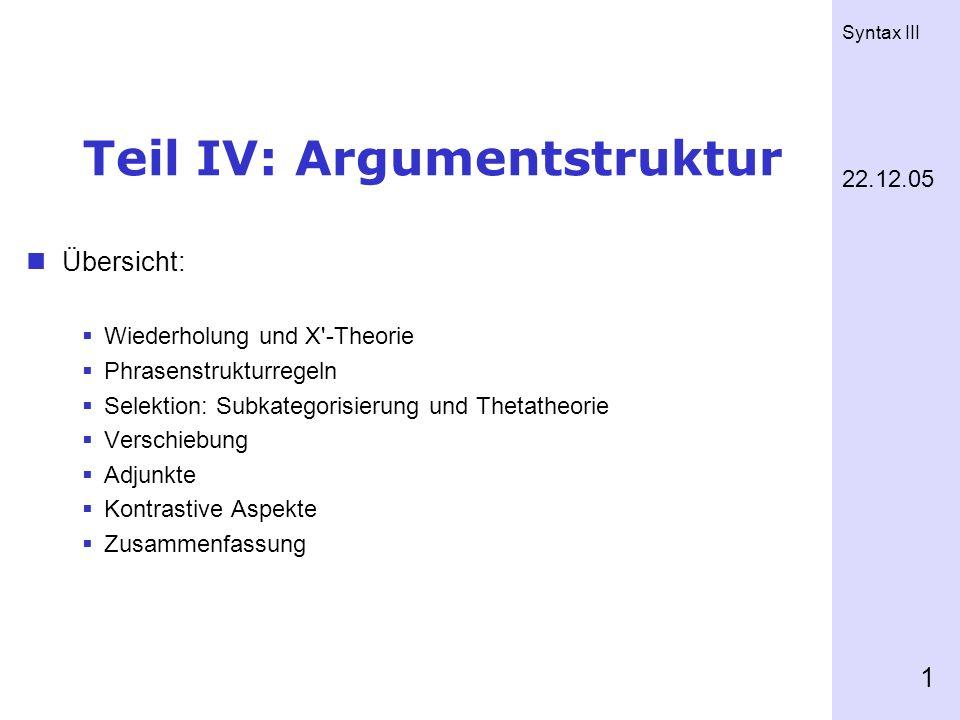 Teil IV: Argumentstruktur