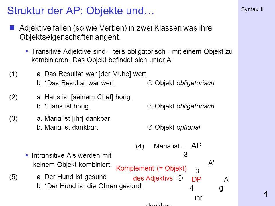 Struktur der AP: Objekte und…