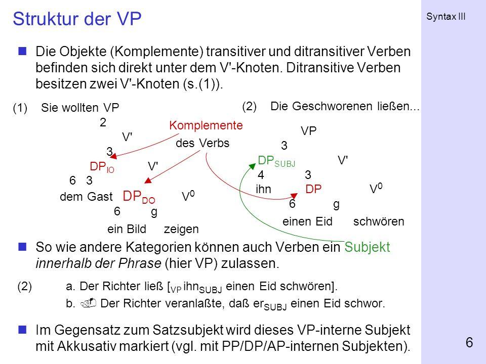 Struktur der VP