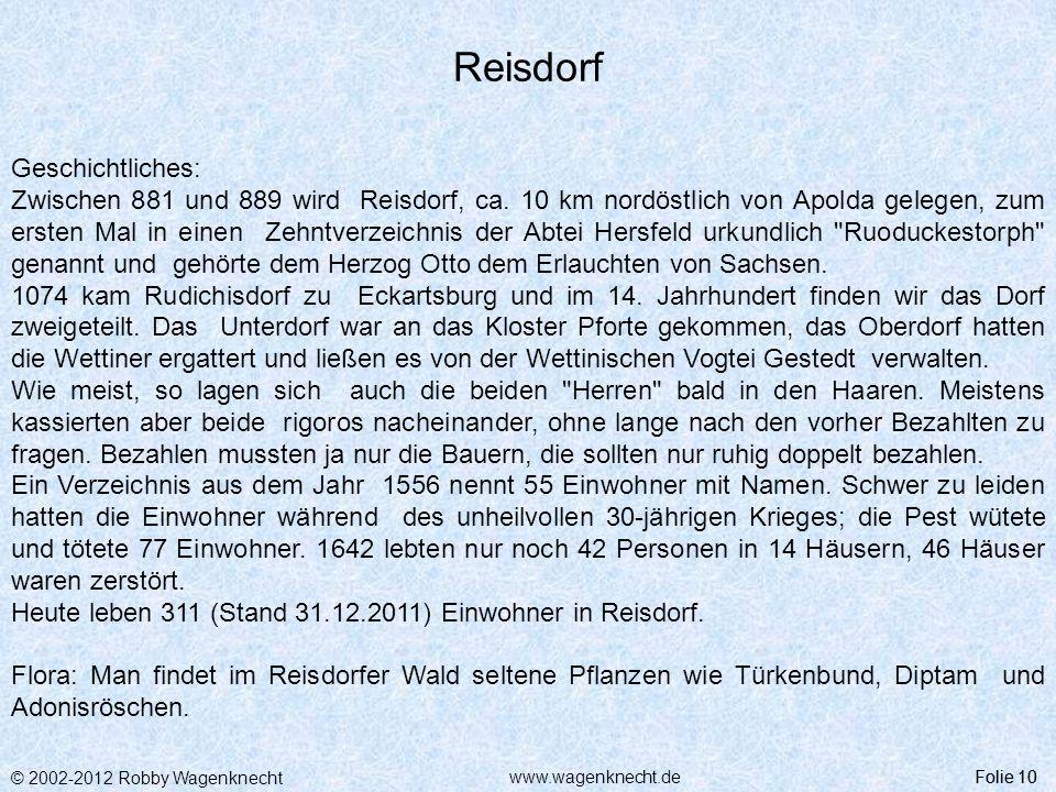 Reisdorf Geschichtliches: