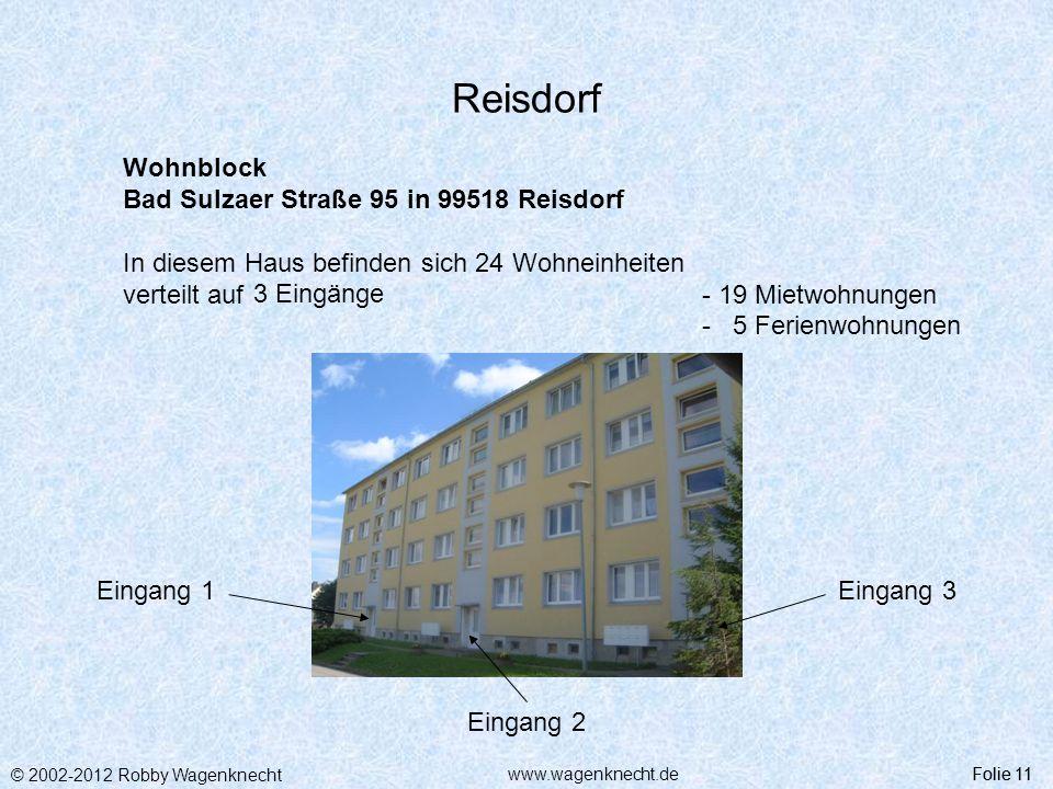 Reisdorf Wohnblock Bad Sulzaer Straße 95 in 99518 Reisdorf