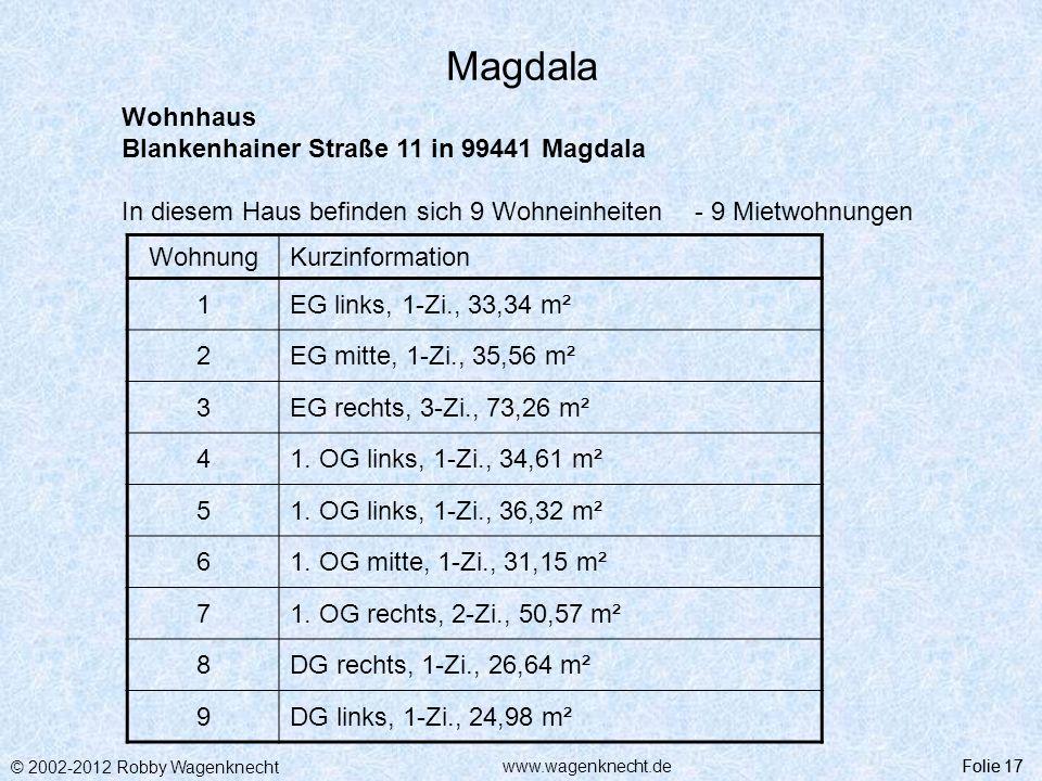 Magdala Wohnhaus Blankenhainer Straße 11 in 99441 Magdala