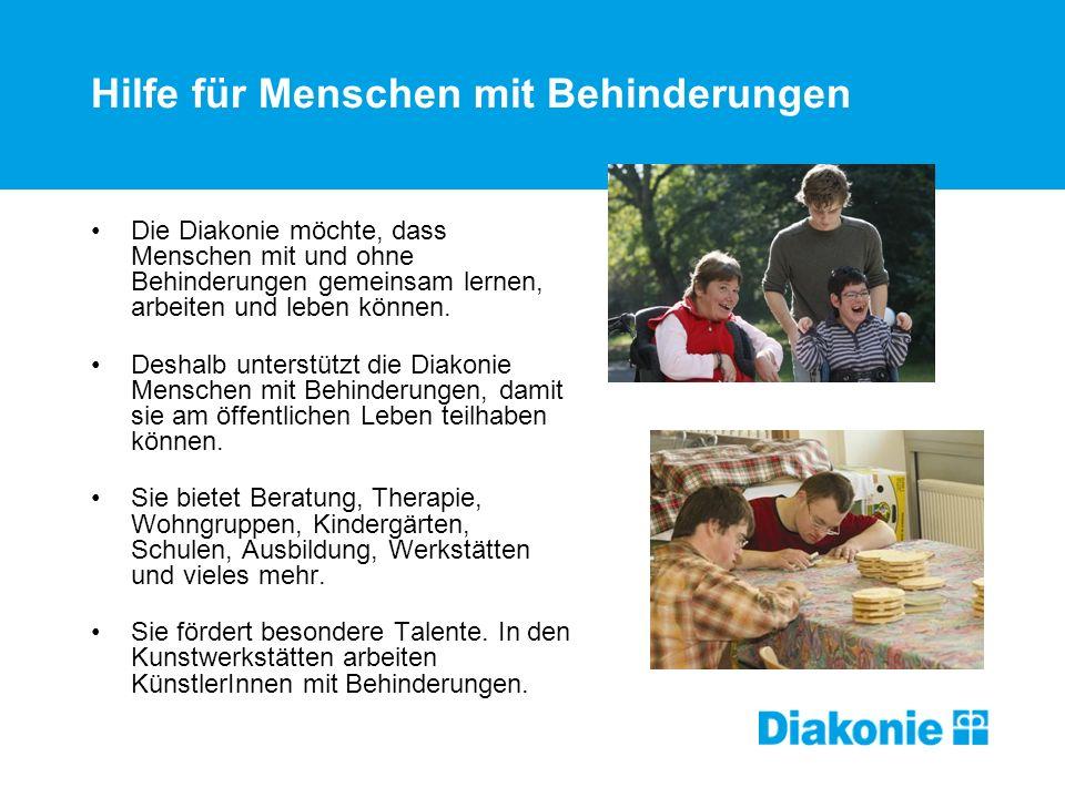 Hilfe für Menschen mit Behinderungen