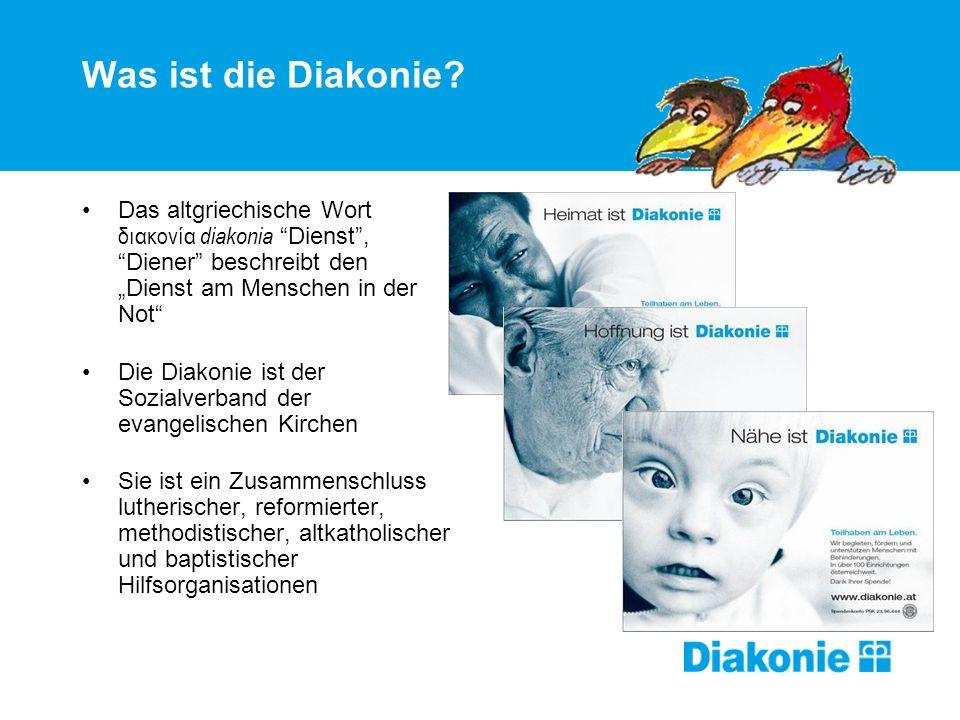 """Was ist die Diakonie Das altgriechische Wort διακονία diakonia Dienst , Diener beschreibt den """"Dienst am Menschen in der Not"""