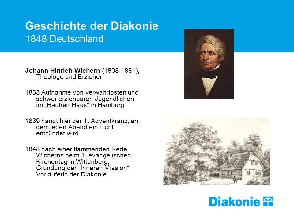 Geschichte der Diakonie 1848 Deutschland
