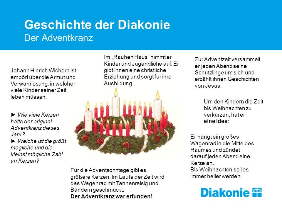 Geschichte der Diakonie Der Adventkranz