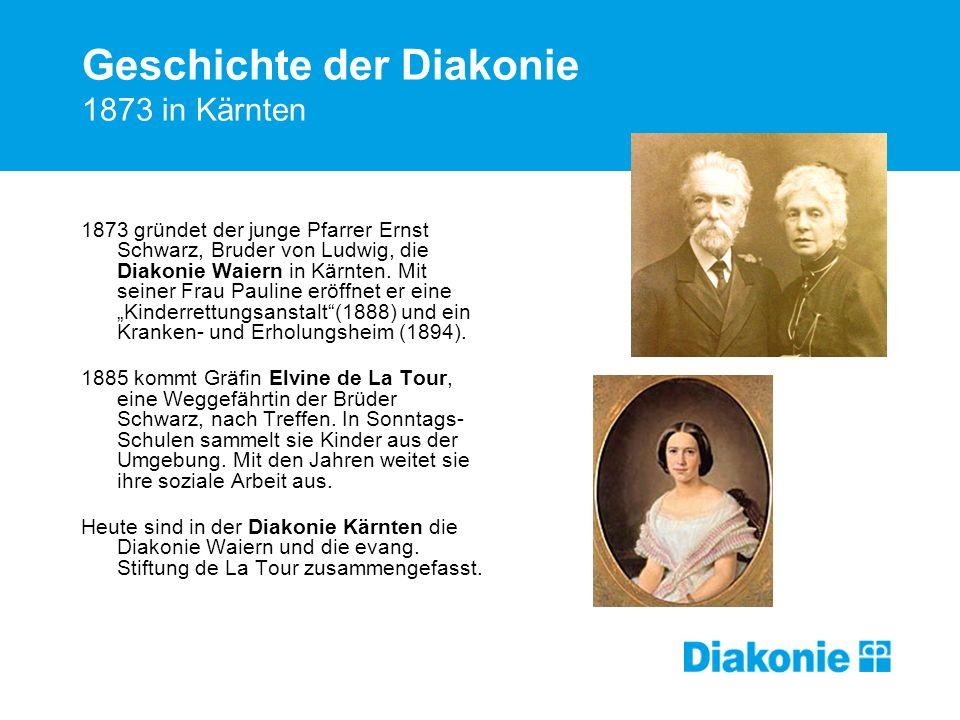 Geschichte der Diakonie 1873 in Kärnten