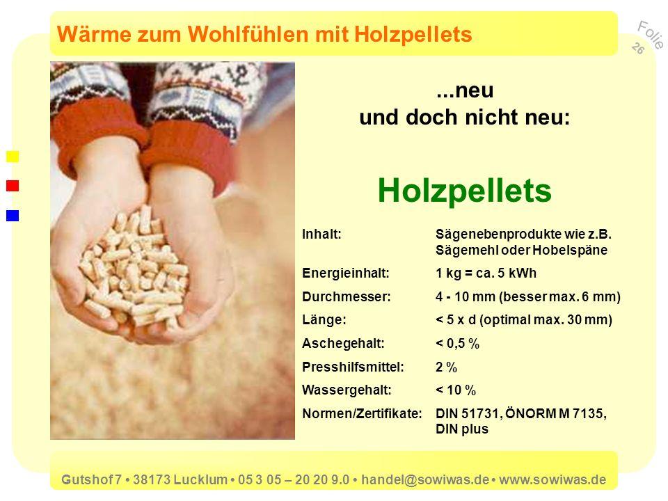 Holzpellets Wärme zum Wohlfühlen mit Holzpellets ...neu