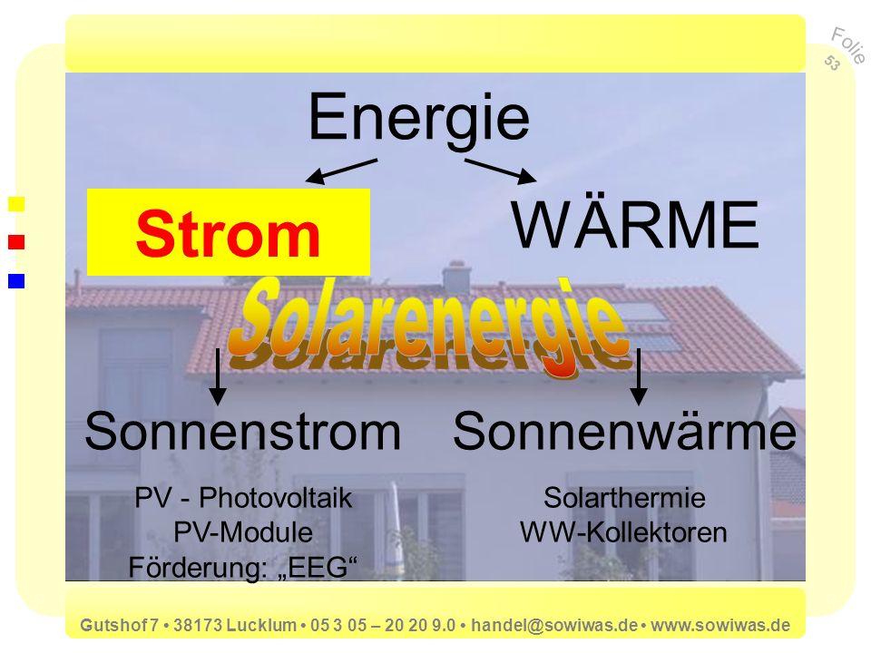 Energie STROM WÄRME Strom Sonnenstrom Sonnenwärme Solarenergie
