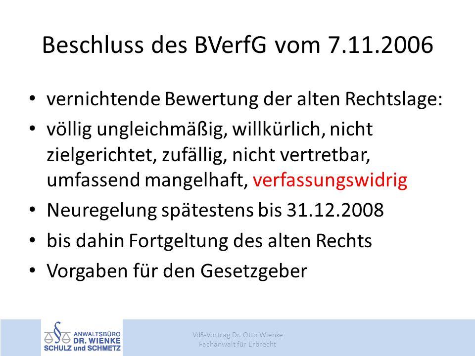Beschluss des BVerfG vom 7.11.2006