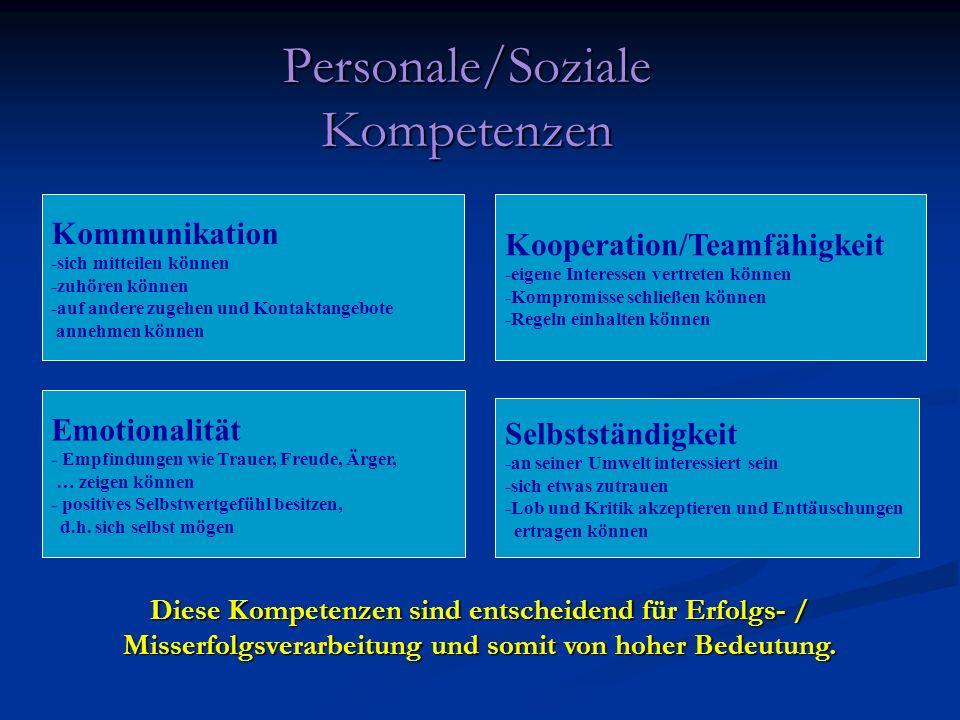 Personale/Soziale Kompetenzen