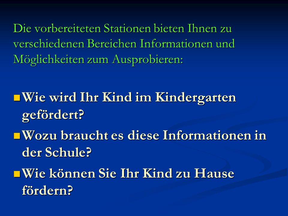 Wie wird Ihr Kind im Kindergarten gefördert