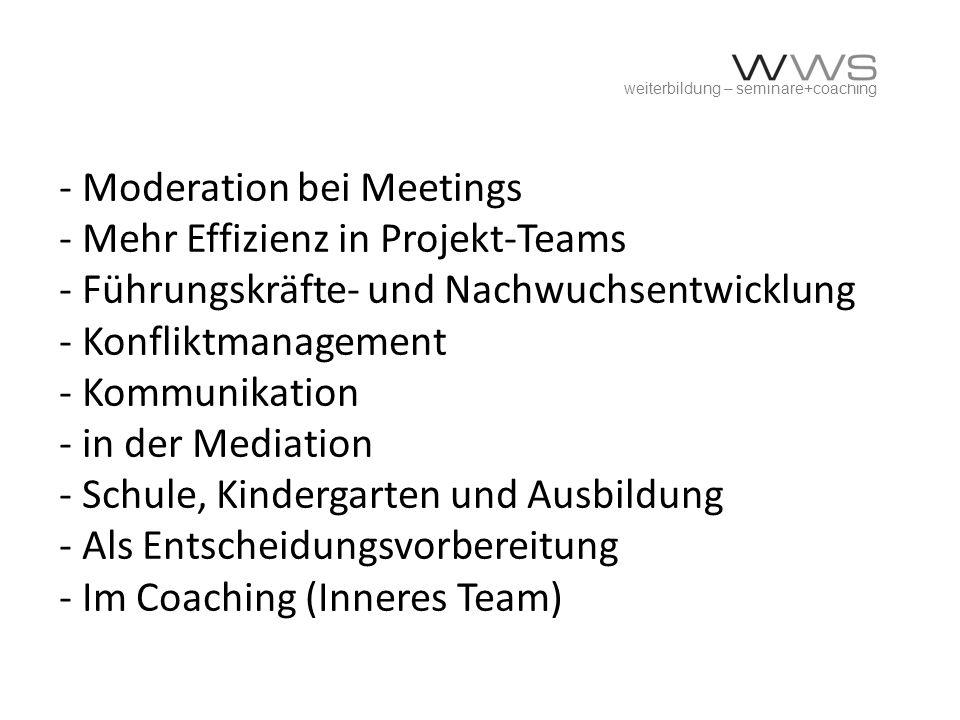 weiterbildung – seminare+coaching