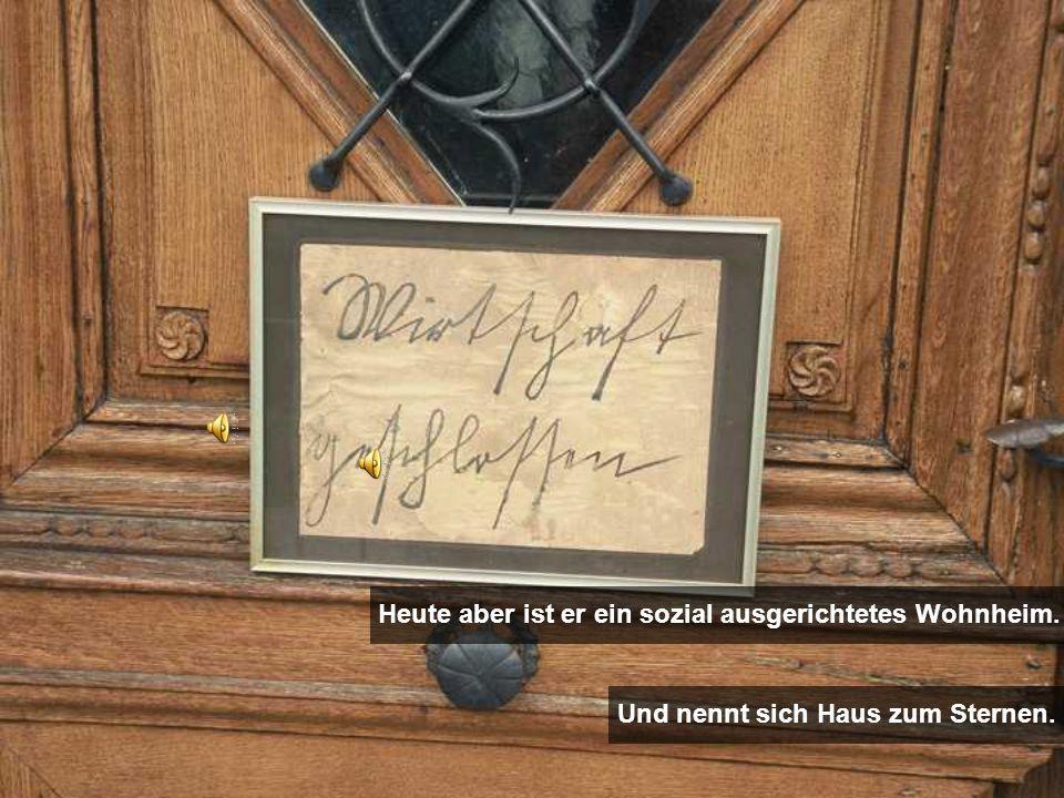 Heute aber ist er ein sozial ausgerichtetes Wohnheim.