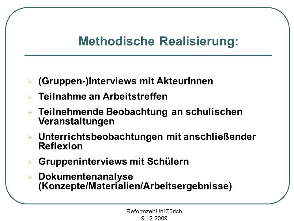 Methodische Realisierung: