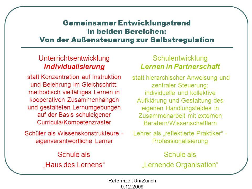 Unterrichtsentwicklung Individualisierung