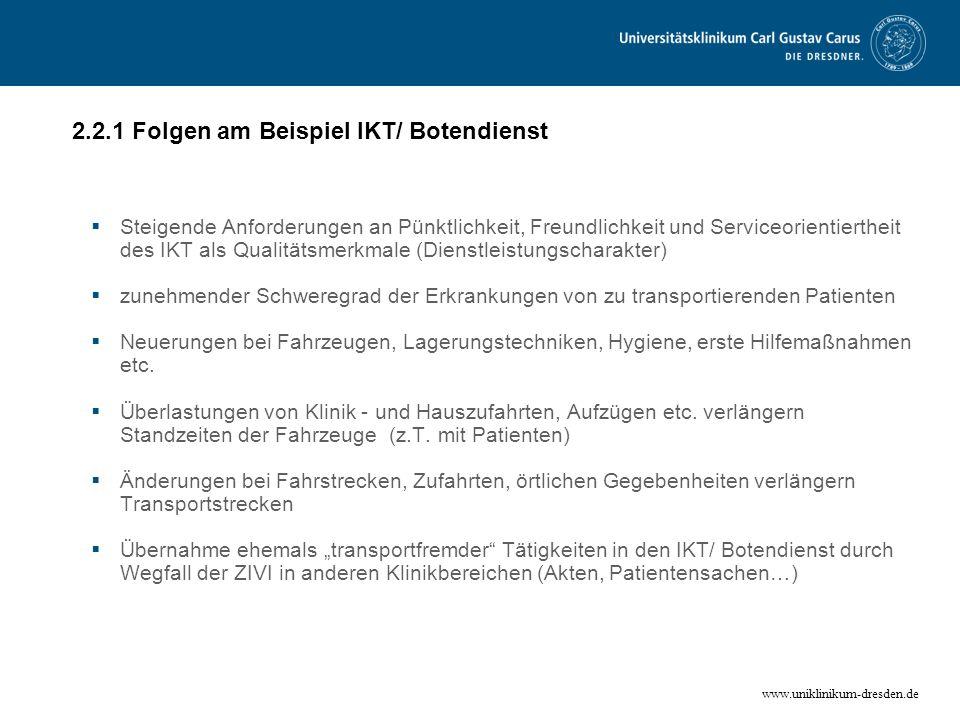 2.2.1 Folgen am Beispiel IKT/ Botendienst