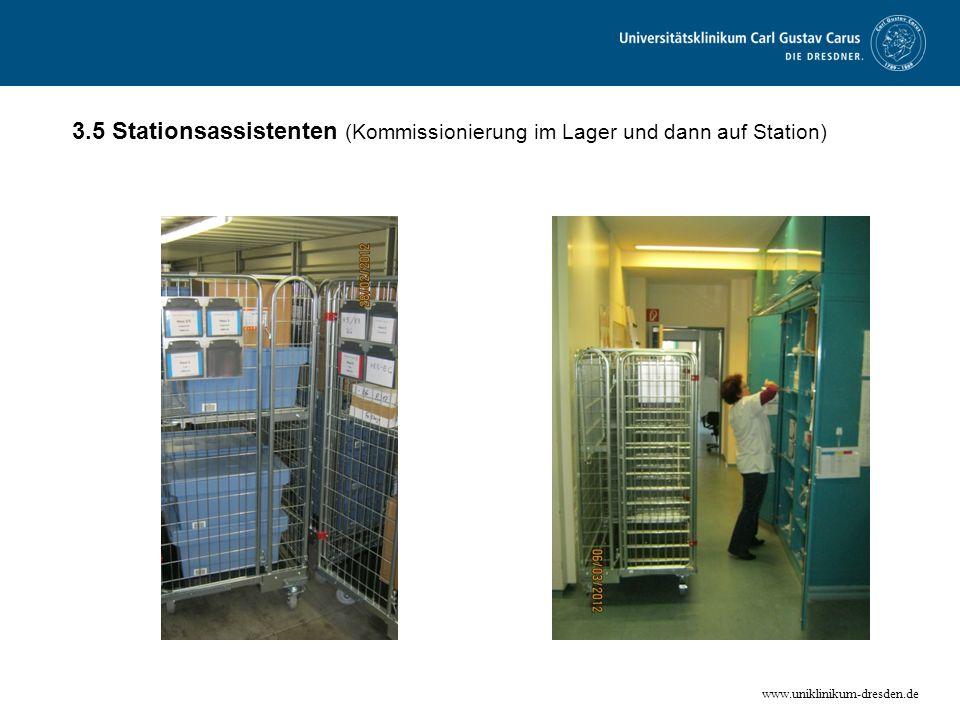 3.5 Stationsassistenten (Kommissionierung im Lager und dann auf Station)
