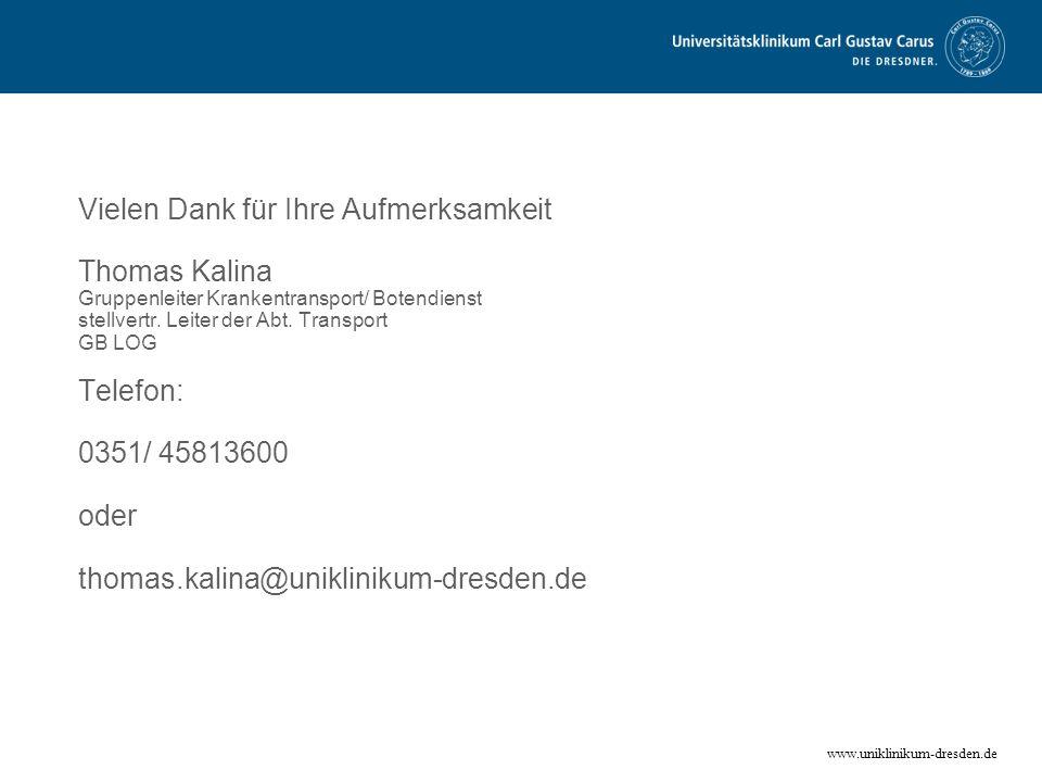 Vielen Dank für Ihre Aufmerksamkeit Thomas Kalina