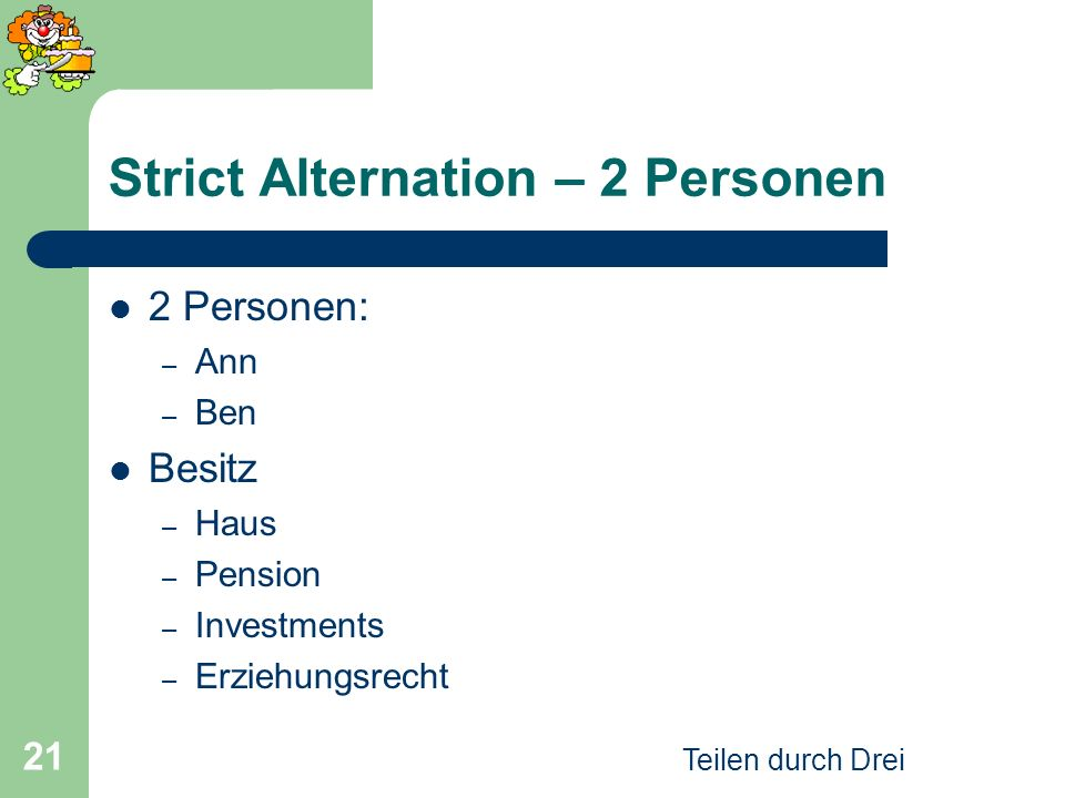 Strict Alternation – 2 Personen
