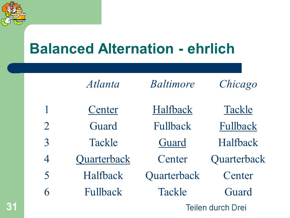 Balanced Alternation - ehrlich