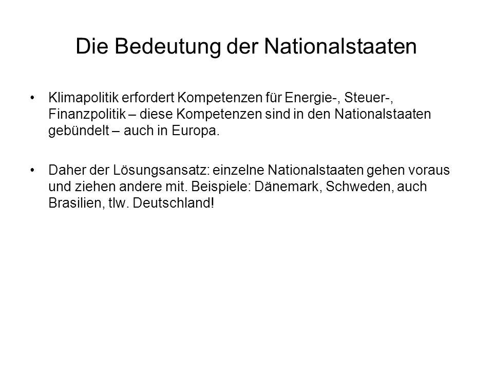 Die Bedeutung der Nationalstaaten