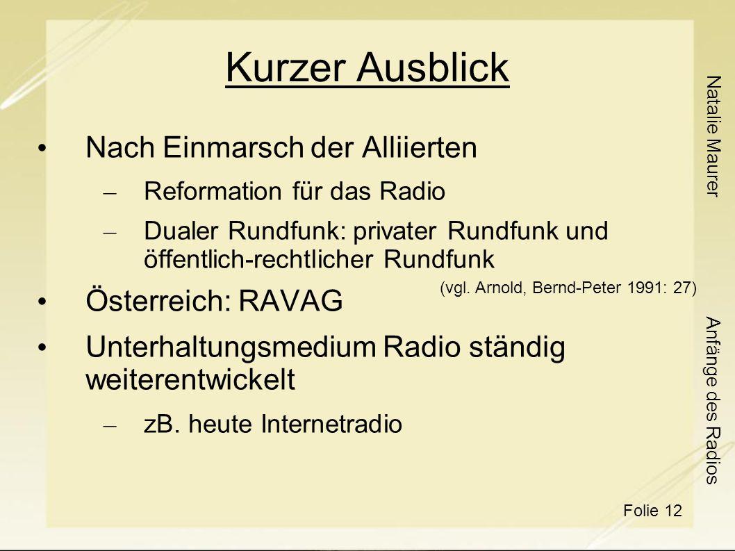 Kurzer Ausblick Nach Einmarsch der Alliierten Österreich: RAVAG
