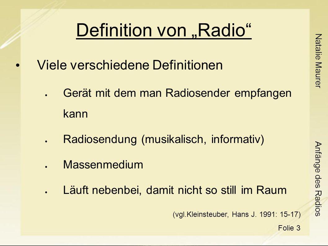 """Definition von """"Radio"""