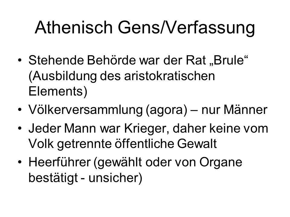 Athenisch Gens/Verfassung