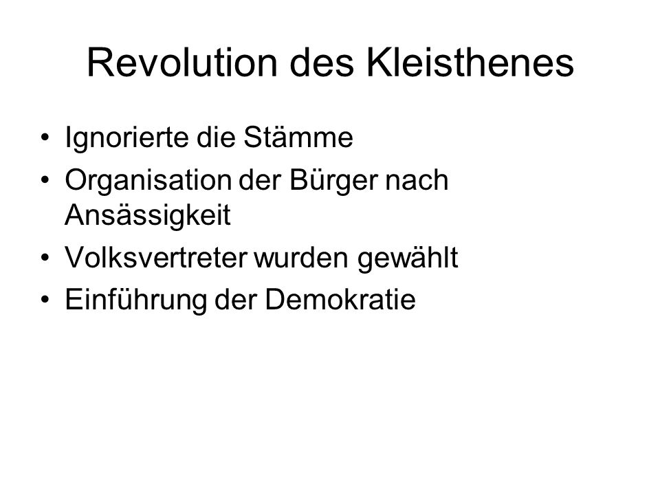 Revolution des Kleisthenes