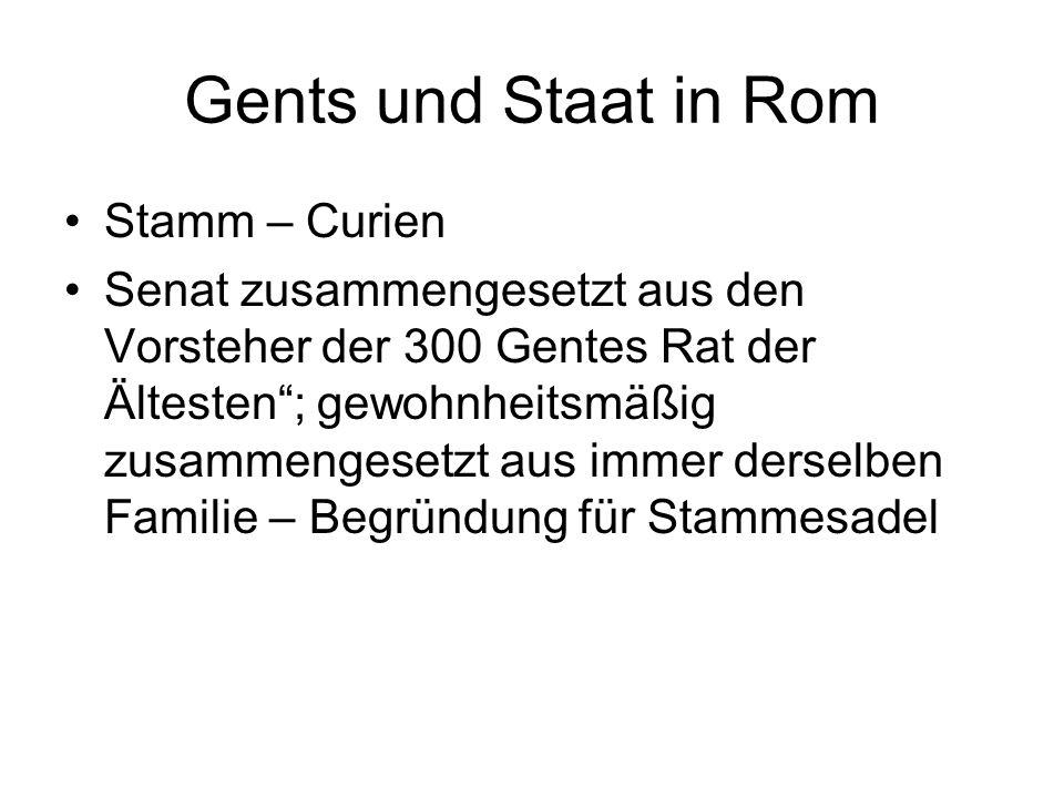 Gents und Staat in Rom Stamm – Curien