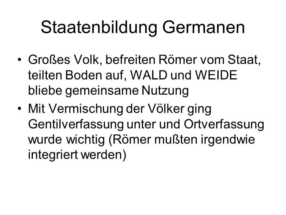 Staatenbildung Germanen