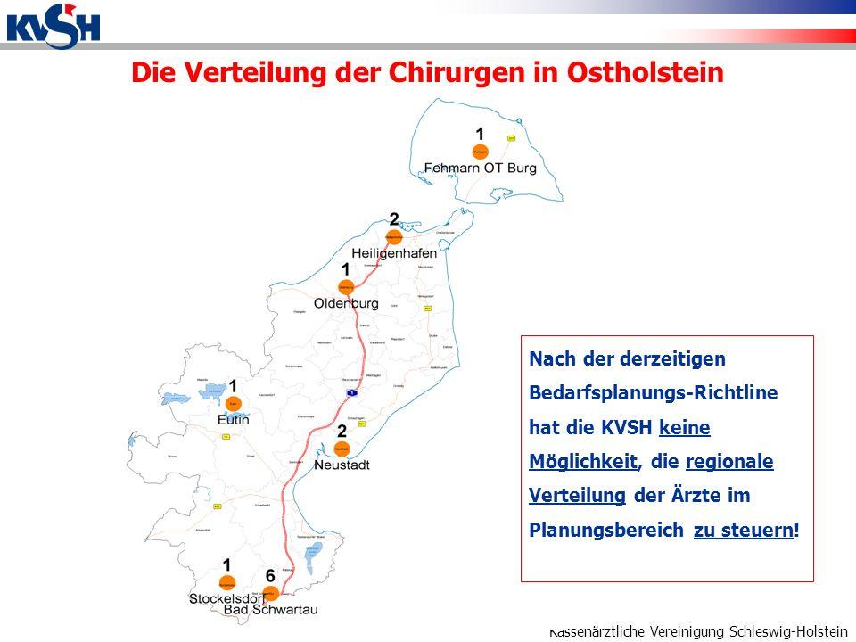 Die Verteilung der Chirurgen in Ostholstein