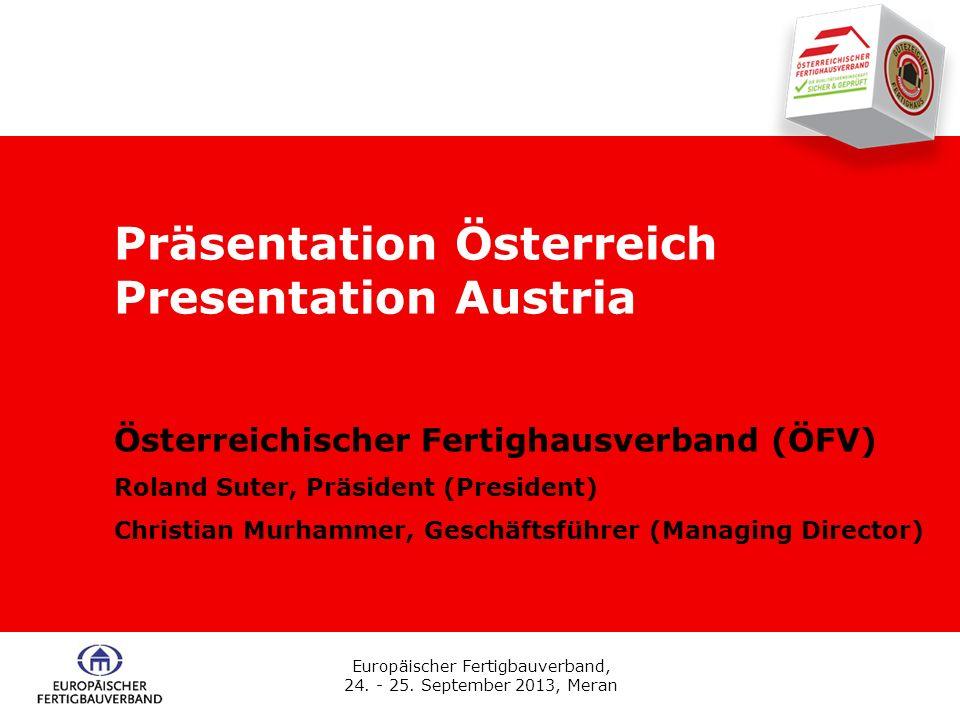 Präsentation Österreich Presentation Austria