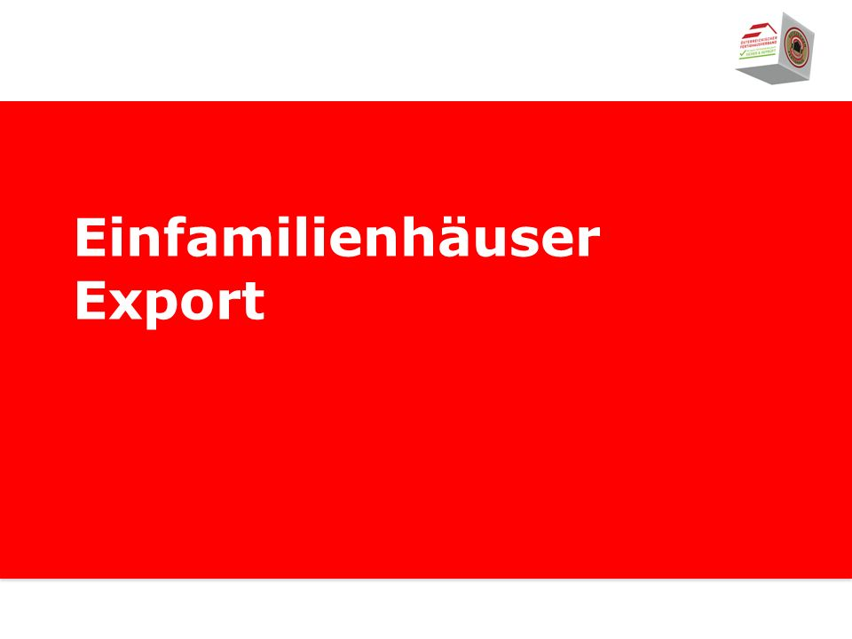 Einfamilienhäuser Export