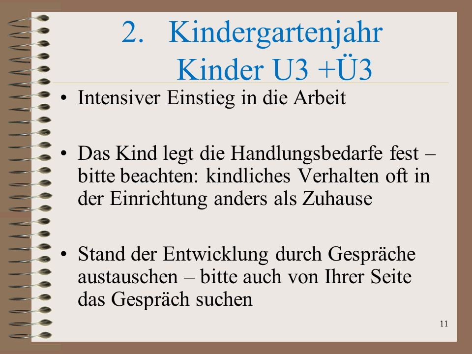 Kindergartenjahr Kinder U3 +Ü3