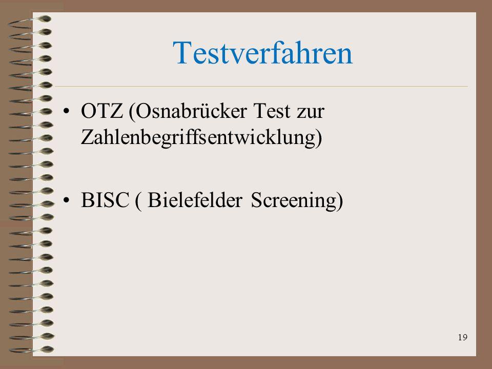 Testverfahren OTZ (Osnabrücker Test zur Zahlenbegriffsentwicklung)