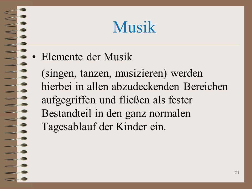 Musik Elemente der Musik