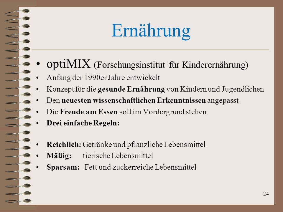 Ernährung optiMIX (Forschungsinstitut für Kinderernährung)